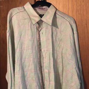 Robert Graham Key Lime Linen Shirt